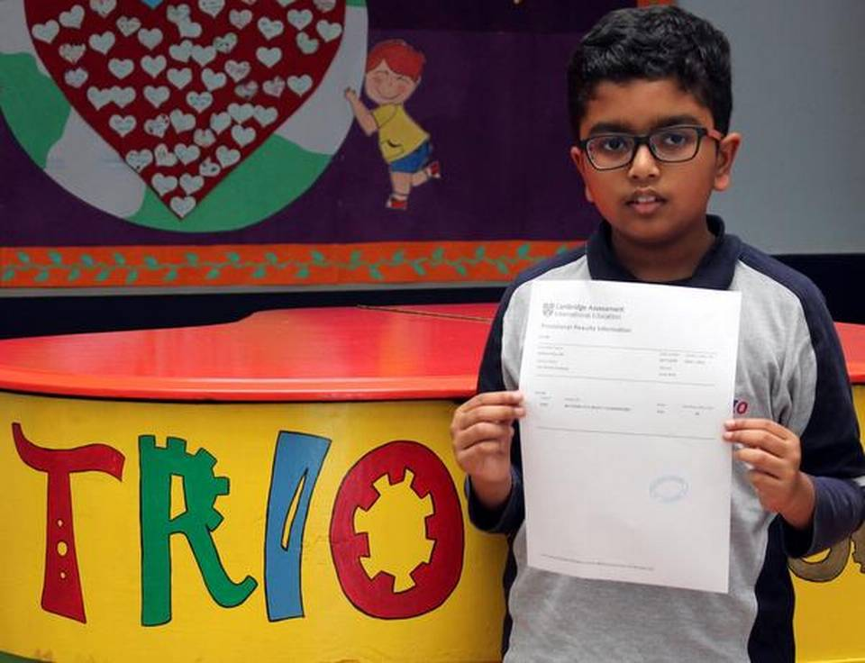 A Bengaluru nine-year-old clears class 10 IGCSE exam held by Cambridge International