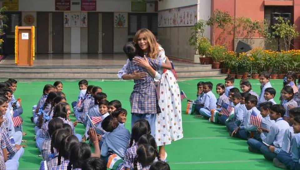 Melania Trump attends 'Happiness Class' in govt school, says curriculum inspiring