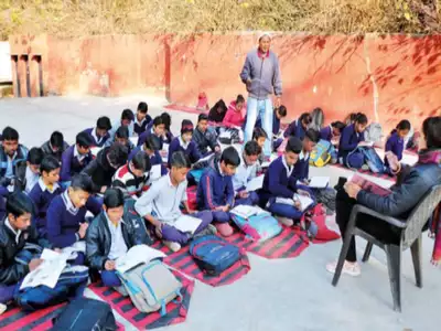 Classrooms used to store books, students made to sit out in the cold in Gurugram